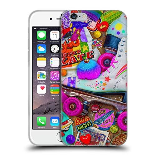 Head Case Designs Licenza Ufficiale Aimee Stewart Notte di Skate Dolciumi Colorati Cover in Morbido Gel Compatibile con Apple iPhone 6 / iPhone 6s