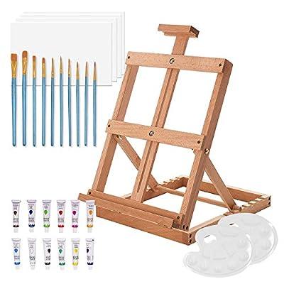 Amazon - 50% Off on Art Easel Studio Tabletop Easel for Painting, Adjustable Beechwood