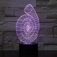 3Dナイトライト抽象スパイラルタッチテーブルランプ3Dライトリビングルーム用エコレーティブテーブルランプ