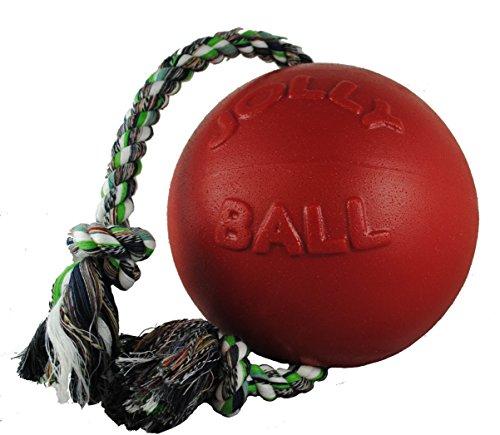 Jolly Pets Ball Romp-n-Roll Jouet pour Chien Rouge 15 cm