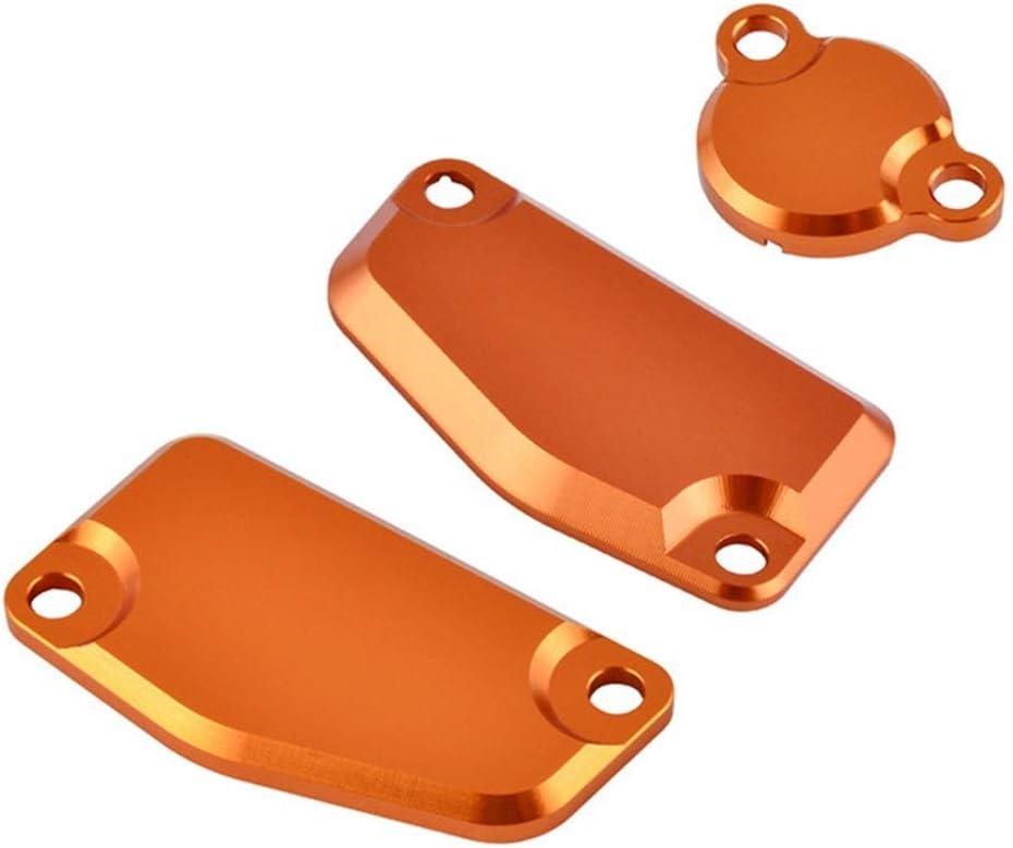 ZRNG Guardia Tapa del depósito CNC Delantera y Trasera Freno del Embrague Cilindro Maestro Protector Set for KTM 65 SX 85 200 XCW XCW 250 Freeride (Color : Orange)