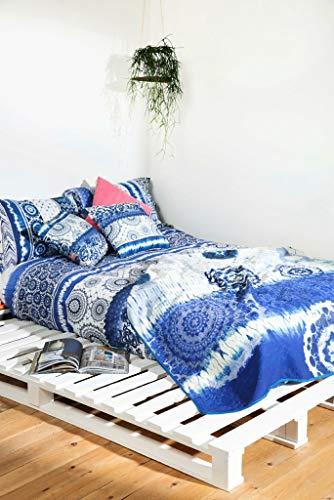 Desigual Copriletto Exotic 180x 270couvre- Einzelbett Baumwolle 270x 180cm, blau