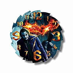 Art time design studio Batman Wall Clock Quiet Sweep Movement Wall Clock Decorative Battery Operated 11,8 Inch – for Devoted Fans of DC Comics.