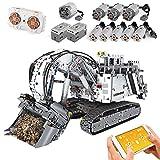 Modelo de coche de excavadora de minería técnica,4062 piezas 2.4G Excavadora Auto Ingeniería Motor Bloques de construcción Juguetes de construcción, Compatible con Lego Technic A,60 * 28 * 39cm