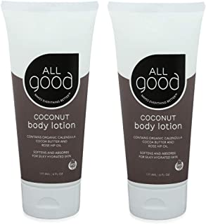 All Good Hand & Body Lotion - Moisturizing Organic Lotion, Essential Oils, Calendula, Cocoa Butter, Coconut & Rose Hip Oil...