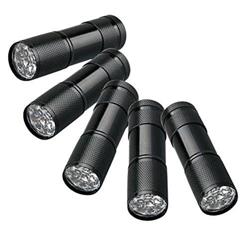 Findway 5 UV Ultra Violet Blacklight 9 LED Flashlight Torch Light Outdoors,Pet Urine Detector for Dog Urine,Pet Stains and Bed Bug Detector,Dog Urine Remover