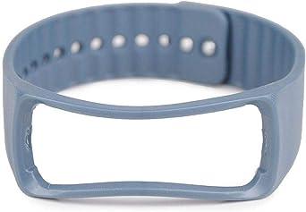 شريط ساعة سيليكون من لايجر متوافق مع ساعات سامسونج جير فيت آر 350 لون أزرق صخري