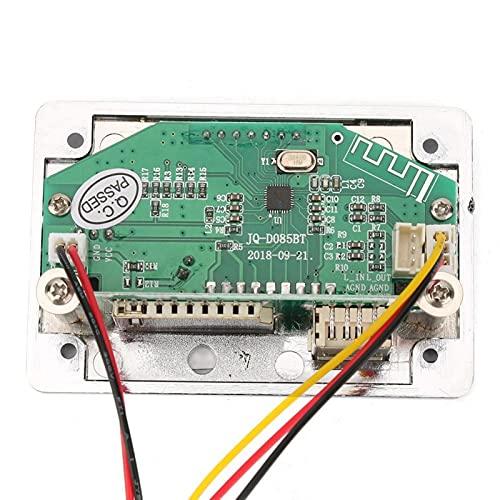 Placa decodificador MP3, módulo de doble canal DC 12 V MP3 sin pérdida WMA/WAV decodificador módulo de tarjeta FM Radio función de audio para lectura de canciones (12 V Bluetooth Silver Edition)