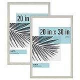 MCS Industries Studio Gallery Frames, 20x30 in, Gray Woodgrain, 2 Count