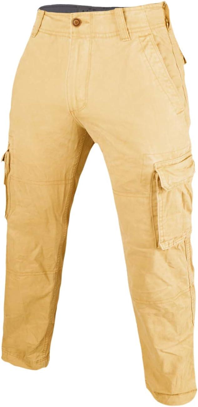 palglg Men's Cargo Jogger Pants Camouflage Multi-Pocket Military