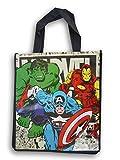 Marvel's Avengers Reusable Tote Bag - Comics the Hulk, Captain America, Ironman (Gift Bag, Shopping, Travel) - 13.5 x 15 Inch…