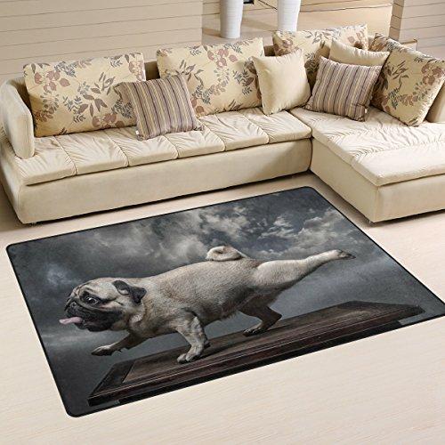 Use7 Vintage Hipster Mops Teppich Anti-Rutsch-Bodenmatte Fußmatten für Kinder Wohnzimmer Schlafzimmer, Textil, mehrfarbig, 100 x 150 cm(3' x 5' ft)