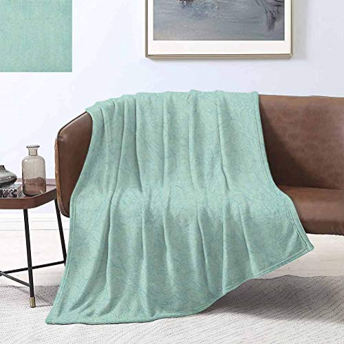 RoomdecorG Turquoise Beach Blanket Dahlia Flowers Bouquet Hand Drawn Style with Brush Strokes Effect Ornamental Art 66x90 Inch Fleece Blankets for Couch Bed Sofa