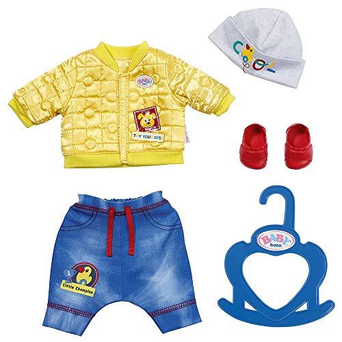 BABY born Little Cool Kids Outfit für 36cm Puppen - Leicht für Kleine Hände, Kreatives Spiel fördert Empathie & Soziale Fähigkeiten, für Kleinkinder ab 2 Jahren - Inklusive Jacke, Hose, Hut & mehr