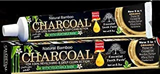 Natural Bamboo Activated Charcoal Essential Toothpaste (100% Fluoride Free) (2 Tubes)