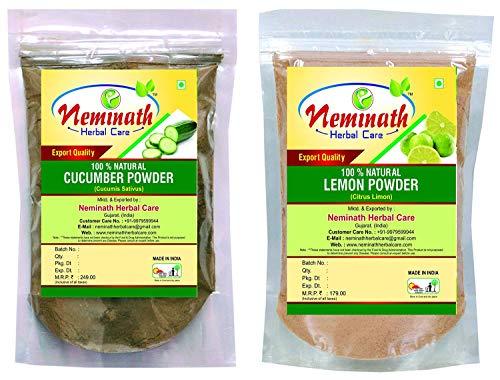Lemon Peel (Citrus Limon), Cucumber (Cucumis Sativus) Powder (Pack Of 2) Each 100 gm (3.52 OZ)