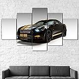 Arte de pared enmarcado GT-H Muscle Cars 5 lienzo arte de la pared naturaleza Pintura al óleo Decoración Hd Impreso Decoración del Hogar Artístico