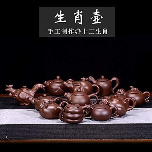 YUXINXIN Tetera Esfuerzo Tetera de té del té del Zodiaco (Color : Video)