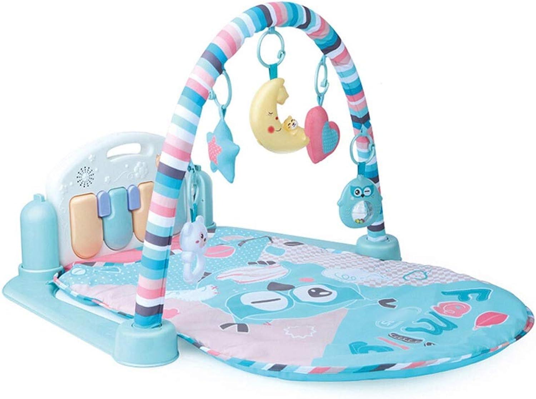 Byx Baby Piano Gym Babymatte Musik Beleuchtung Kinderspielzeug Früherziehung Aufklrung Babyspielzeug Multifunktionale Mehrkomponenten-Neugeborenen Baby Piano Gym