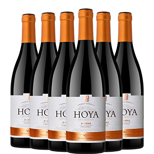 Hoya de Cadenas Reserva Shiraz Crianza Vino Tinto D.O. Uitel Requena 6 Botellas - 750 ml