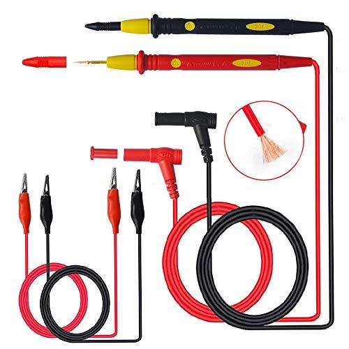 senvenelec 1000V 20A Kit de cables de prueba electrónicos para multímetro de,...