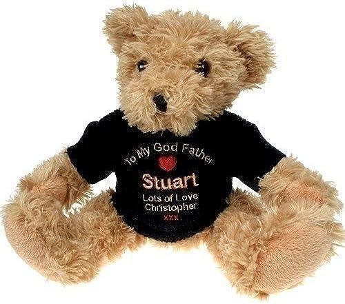 Personalised God Father Light braun Teddy Bear