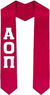 Custom Alpha Omicron Pi AOII Graduation Stole Sash