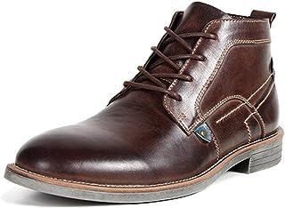 fb439896 Hombres Botines De OtoñO Y Primavera Botines Chelsea Vintage Zapatos De  Cuero Pulido Punta Estrecha Zapatos