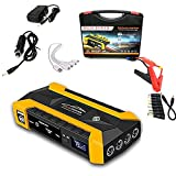 7HAHA3 Arrancador para Vehículos 12V 4USB 600A Batería de Coche Portátil Cargador de Refuerzo Banco de Energía Dispositivo de Arranque Automático,Yellow