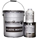 QuestMark 2110 High Traffic Epoxy Concrete Floor Patch and Resurfacer, 5 Gallon, Dark Gray - Three Component 100% Solids Mortar with High Impact and Abrasion Resistance
