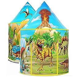 6. Wilwolfer Store Dinosaur Kids Tent with Dinosaur Drawing Book