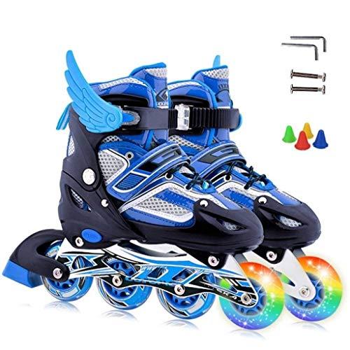 Rolschaatsen zonder merk, verstelbaar, voor kinderen, volwassenen, kinderen, jongens, ademend, rolschaatsen