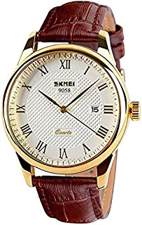 Skmei Dress Watch For Men Analog Leather - SK-9058