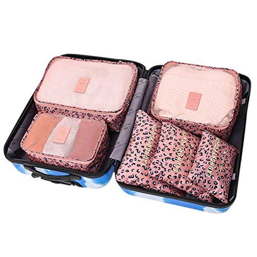 Underwear Organizer - 6 Pcs Travel Storage Bag Set Waterproof Clothes Underwear Organizer Pouch Portable Suitcase Closet - Pink Closed Grey Black Divider Shallow Plastic Under Dividers Bas