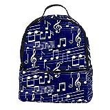 ATOMO Mini mochila casual azul nota de música pu cuero viajes compras bolsas Daypacks