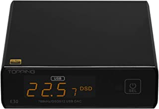 Topping E30 Mini Stereo DAC HiFi AK4493 Coaxial Optical Fiber USB Input Converter 32Bit/768kHz DSD512 Decoder for Home The...