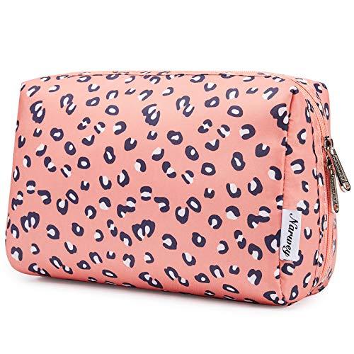 Große Schminktasche Reißverschlusstasche Travel Cosmetic Organizer für Frauen und Mädchen (Leopard, Groß)