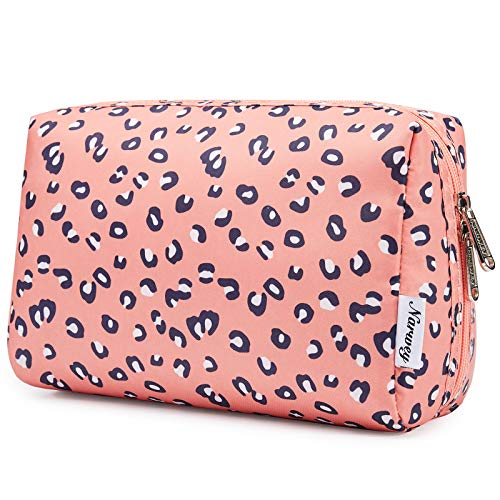 Large Makeup Bag Zipper Pouch Travel Cosmetic Organizer for Women and Girls (Large, Leopard)