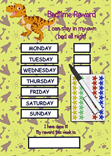 kids2learn Personalised Unicorn Toilet Training Star Chart for Toddlers Children with 125 Star Stickers