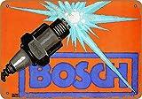 Ellis Bosch Spark Plugs Tôle rétro en métal pour Magasin de décoration de Maison Cave Cave Homme