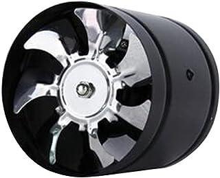 LOVIVER Soplador en Línea Extractor de Ventilación Ventilador de Aumentador de Presión de Conducto de 6 Pulgadas 40w - Negro, 150 mm