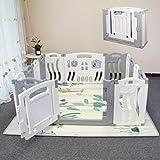Box per bambini pieghevole Penna per giochi pieghevole per bambini Centro attività per bambini Parco giochi per la sicurezza Casa Indoor Outdoor Nuova penna con tavolo da disegno (Tema oceano)