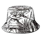 Yoliveya Sombrero de Pesca,Alicia En El Pais De Las Maravillas Libro Alicia,Senderismo para Hombres y Mujeres al Aire Libre Sombrero de Cubo Sombrero para el Sol