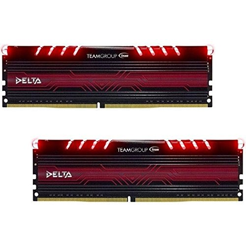 Equipo Grupo Delta Serie Rojo LED DDR4 – 2400 CL15 Kit de