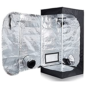 "TopoLite 20""x20""x48"" 600D Grow Tent Room Reflective Mylar Indoor Garden Growing Room Hydroponic System"