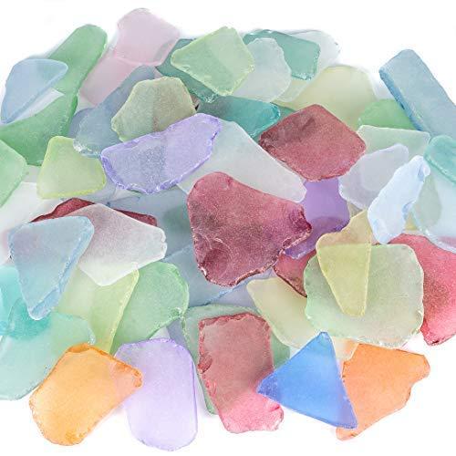 Nautical Crush Trading Sea Glass   Große Bunte Sea Glass Mix 2-3,5   11 Unzen...