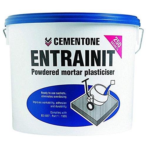 Cementone Entrainit - Plastificante para mortero en polvo, 3 kg, 250 bolsitas, tipo: plastificante