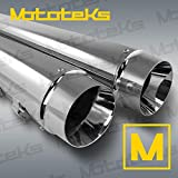 DNA 4' CHROME STYLE TAPERED SLIP-ONS MUFFLERS HARLEY TOURING 95-16