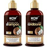 WOW Coconut Milk Shampoo and Conditioner Set, Slow Down Hair Loss, Essential...