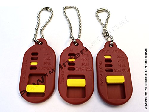 PAW 2 Stroke Buddy Gas Can I.D. Tag for 2-Cycle Mix -(Set of 3)- Distributed International